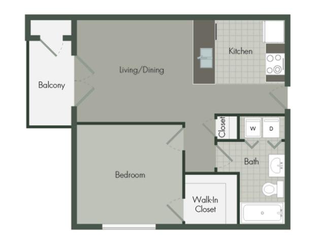 1 Bedroom | 1 Bath | 576 SF