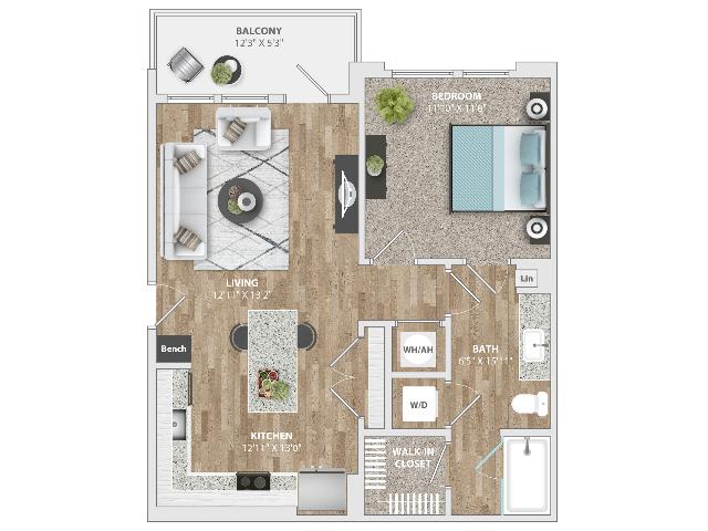 1 Bedroom | 1 Bath | 724 SF