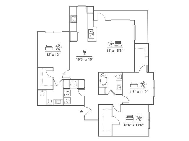 3 Bedroom | 2 Bath | 1471 SF
