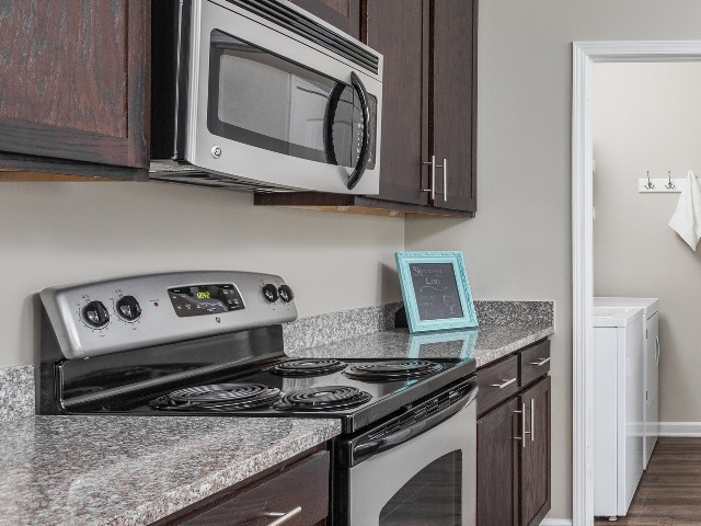 Stainless Steel Microwave and Stove