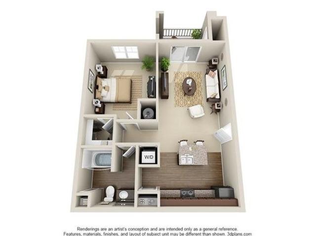 1 Bedroom | 1 Bath | 744 SF