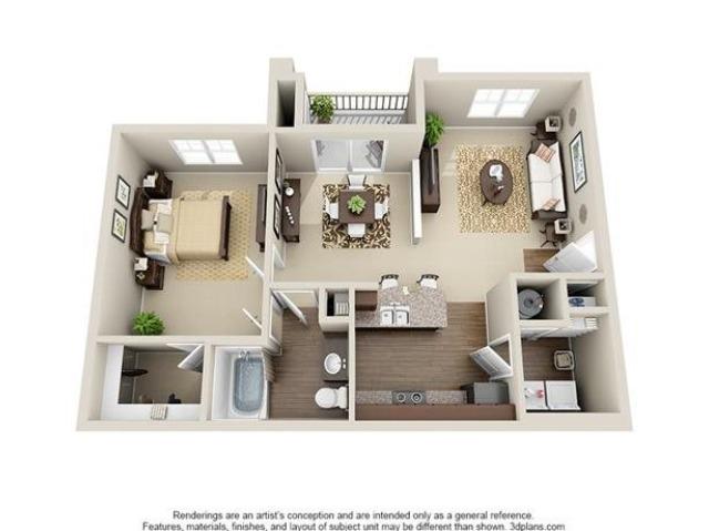 1 Bedroom | 1 Bath | 833 SF