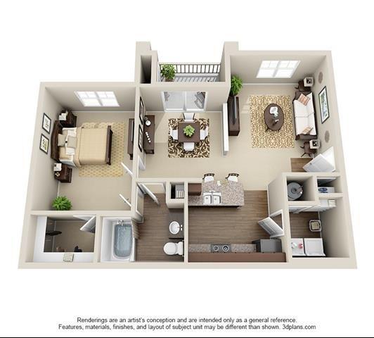 1 Bedroom | 1 Bath | 850 SF