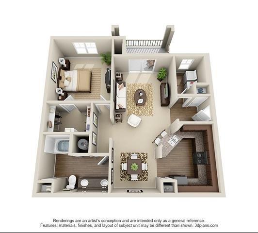 1 Bedroom | 1 Bath | 949 SF