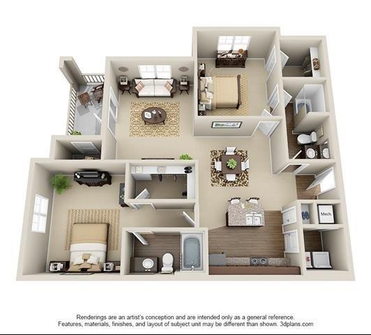 2 Bedroom | 2 Bath | 1203 SF