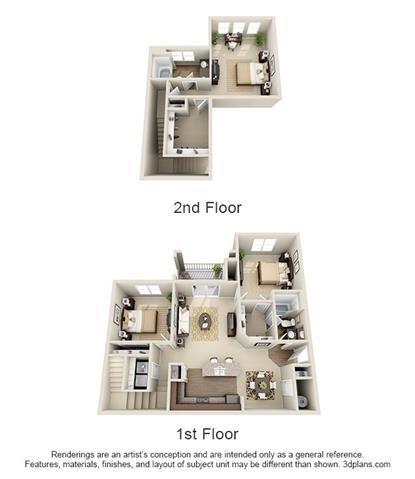 3 Bedroom | 2 Bath | 1550 SF