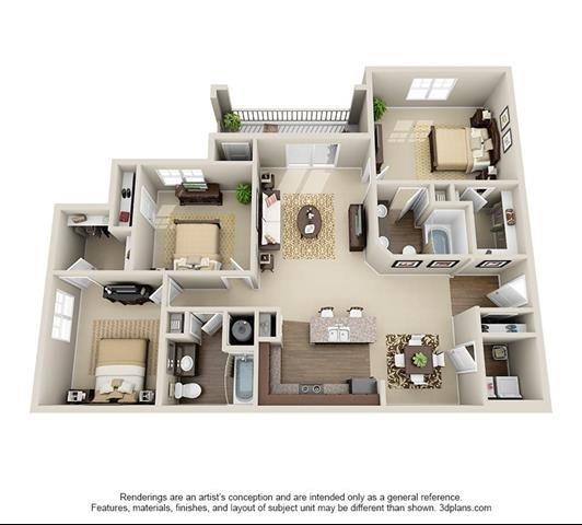3 Bedroom | 2 Bath | 1381 SF