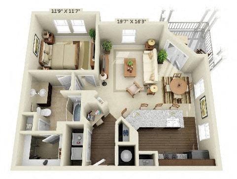 1 Bedroom | 1 Bath | 806 SF