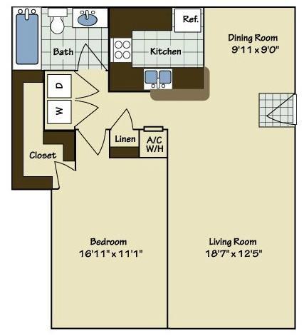 1 Bedroom | 1 Bath | 904 SF