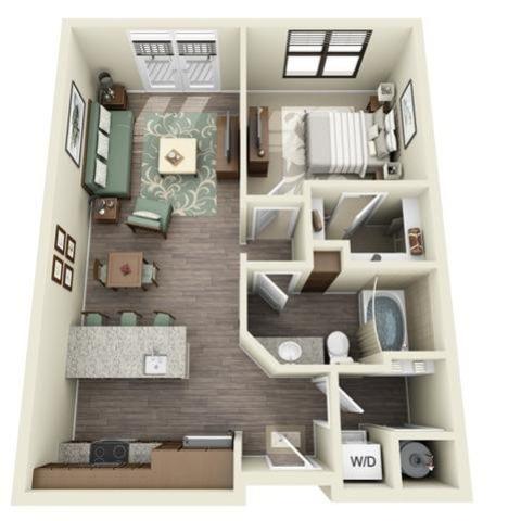 1 Bedroom | 1 Bath | 715-731 SF