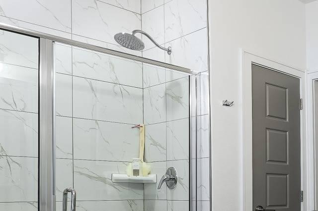 Walk-In Shower with Rain Shower Heads