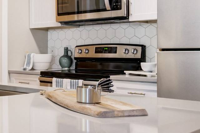 Quartz Countertop with Tile Backsplash