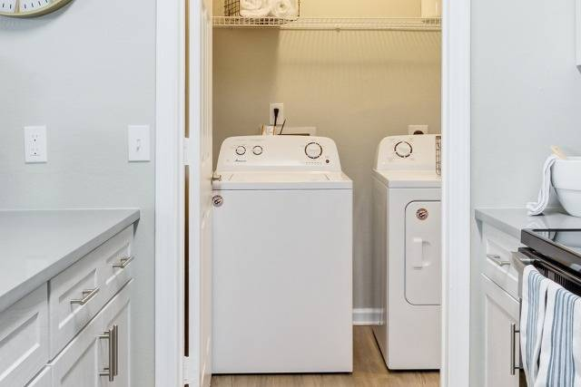 Washer and Dryer in Dedicated Laundry Closet