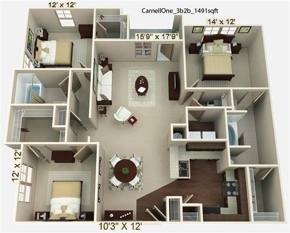 Carnell 1 Floor Plan Image