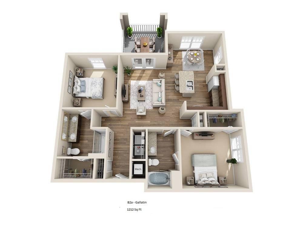 Gallatin Floor Plan Image