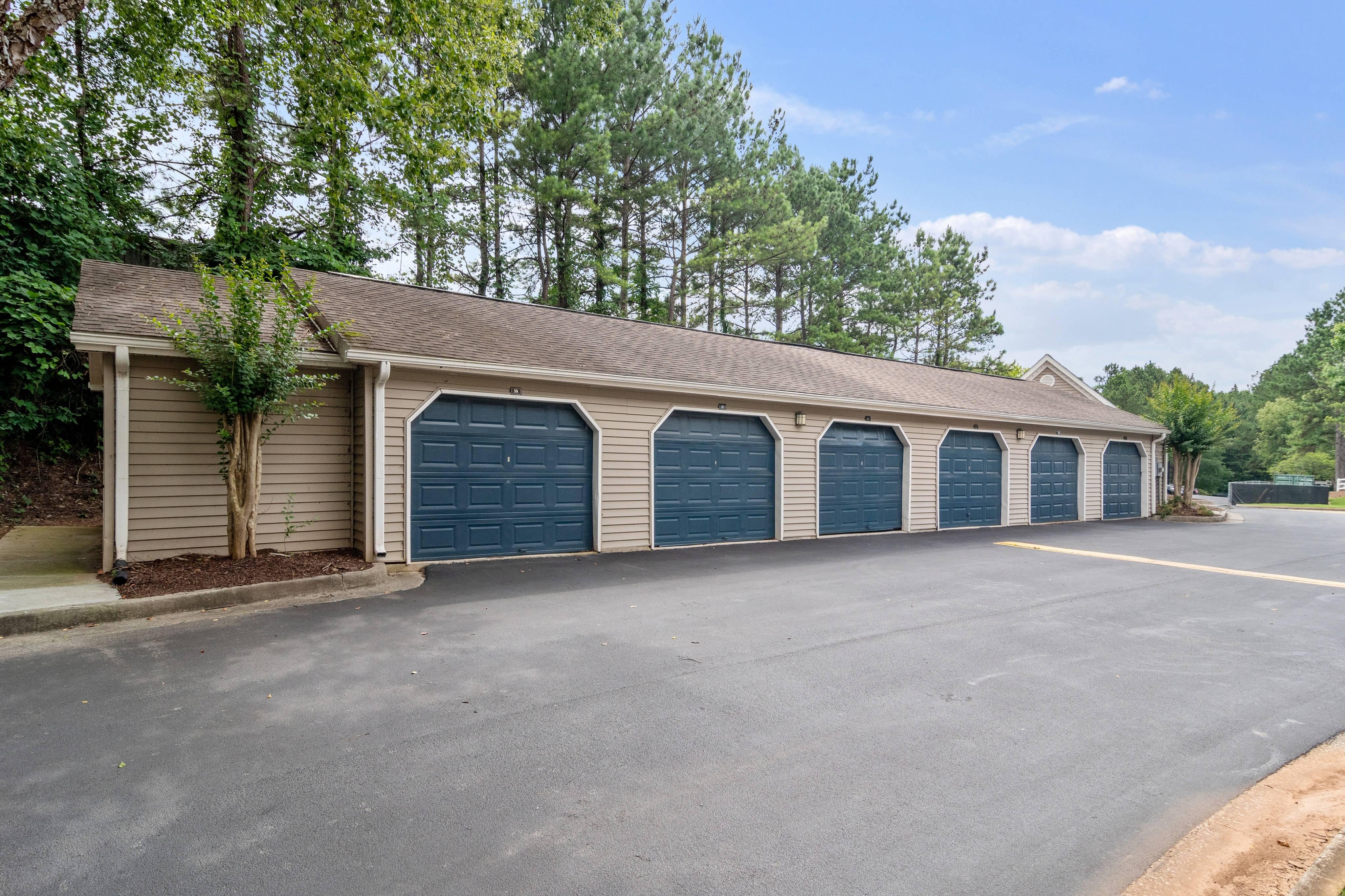 Bank of 6 Detached Garages