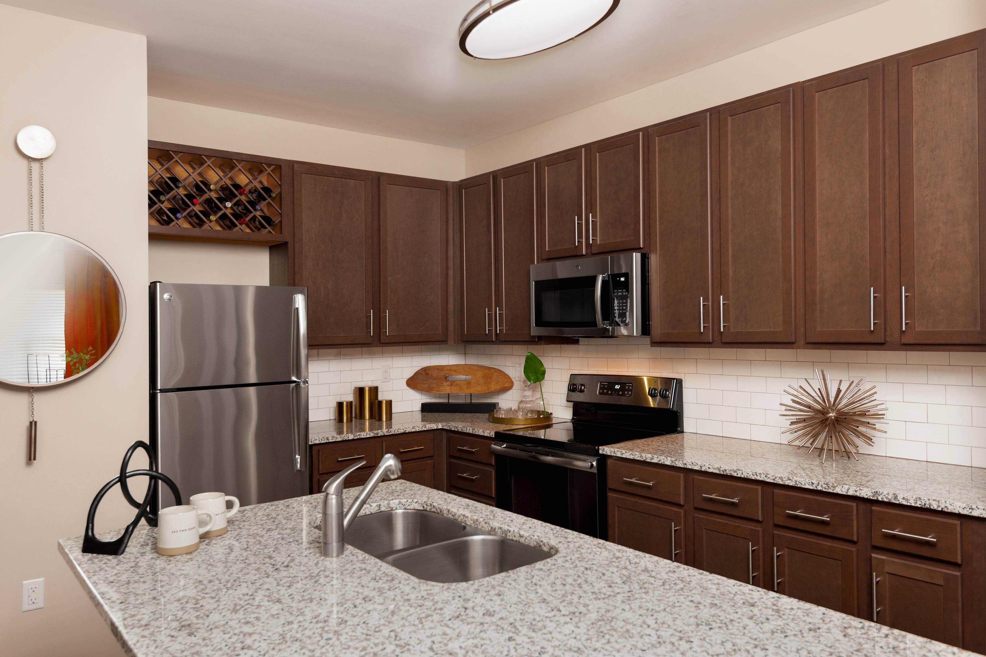 Gourmet Kitchen with Custom Cabinetry and Granite Countertops
