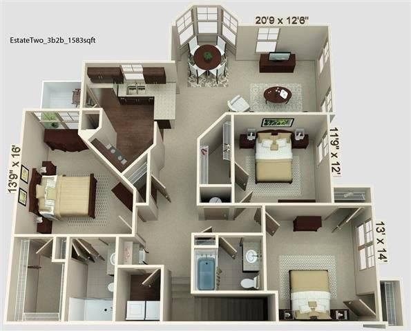 Estate 2 Floor Plan Image