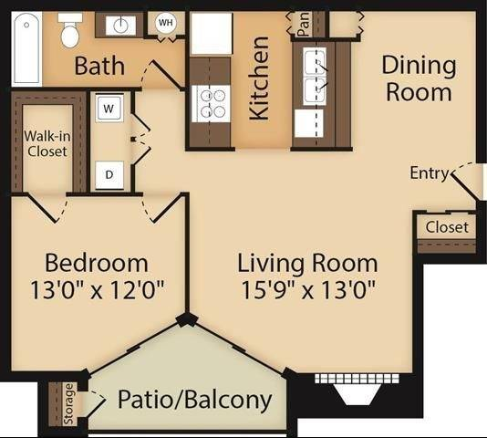 Burgundy Floor Plan Image