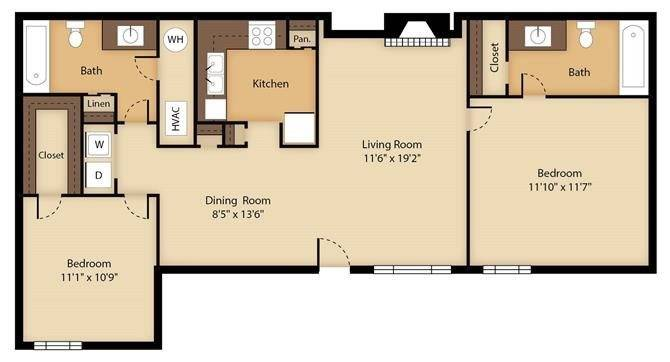 Oak 1 Floor Plan Image
