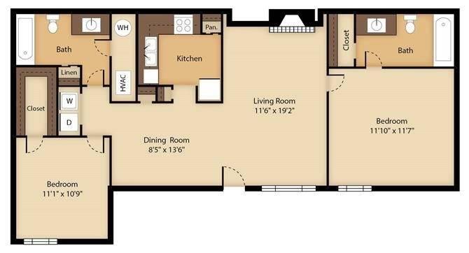 Oak 3 Floor Plan Image
