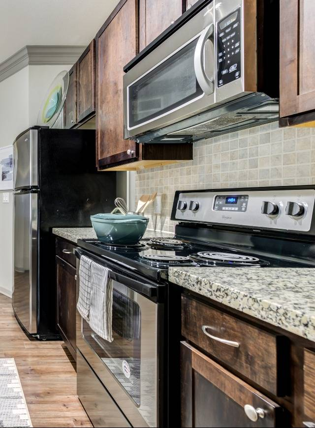 Closeup of Stainless Steel Appliances