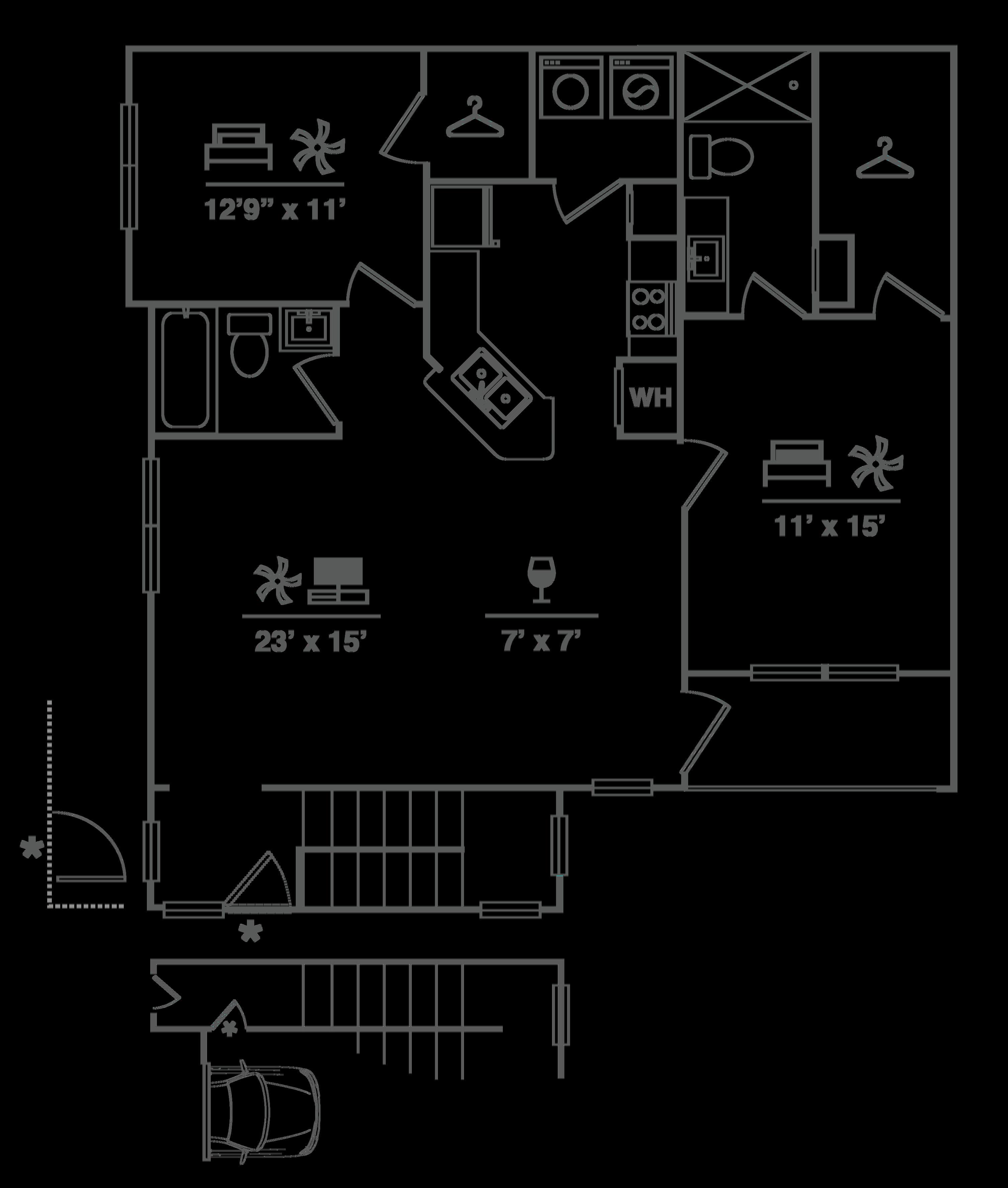B1UGa Floor Plan Image