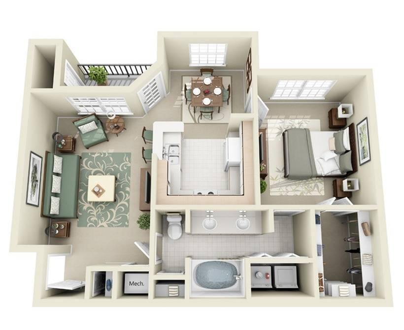 1B Floor Plan Image