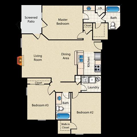 Lake Monroe Floor Plan Image