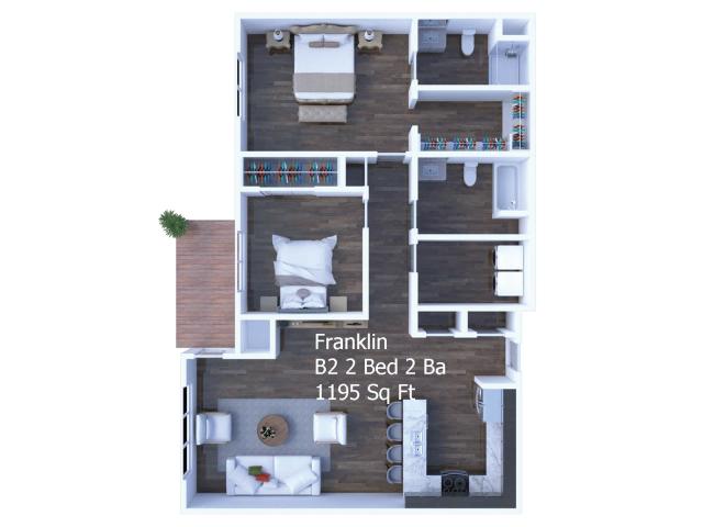 Franklon 2 Bed 2 Bath