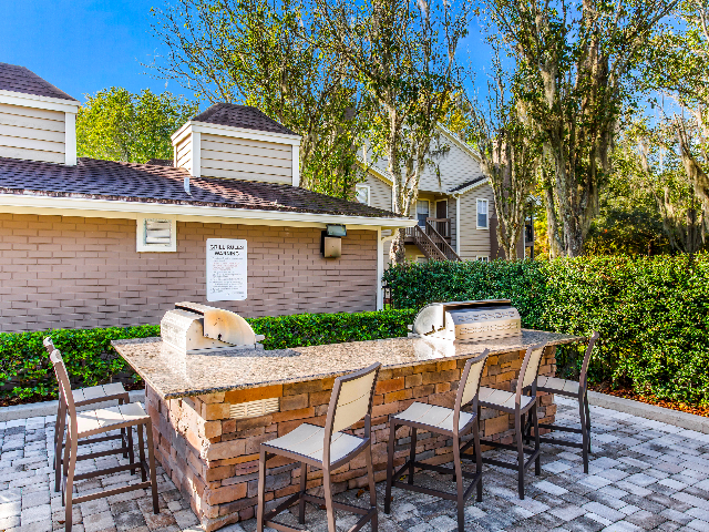 Outdoor grilling and dining spaces are great way to visit with friends and family