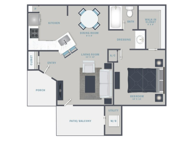 A1U- Reno Package starting Sept. 2021 - White Quartz Countertops and Stainless Steel Appliances
