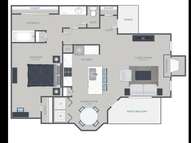 A3U- Reno Package starting Sept. 2021 - White Quartz Countertops and Stainless Steel Appliances
