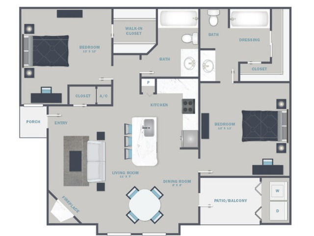 B2U- Reno Package starting Sept. 2021 - White Quartz Countertops and Stainless Steel Appliances