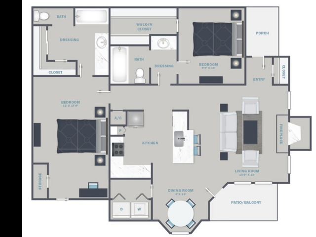 B3U- Reno Package starting Sept. 2021 - White Quartz Countertops and Stainless Steel Appliances