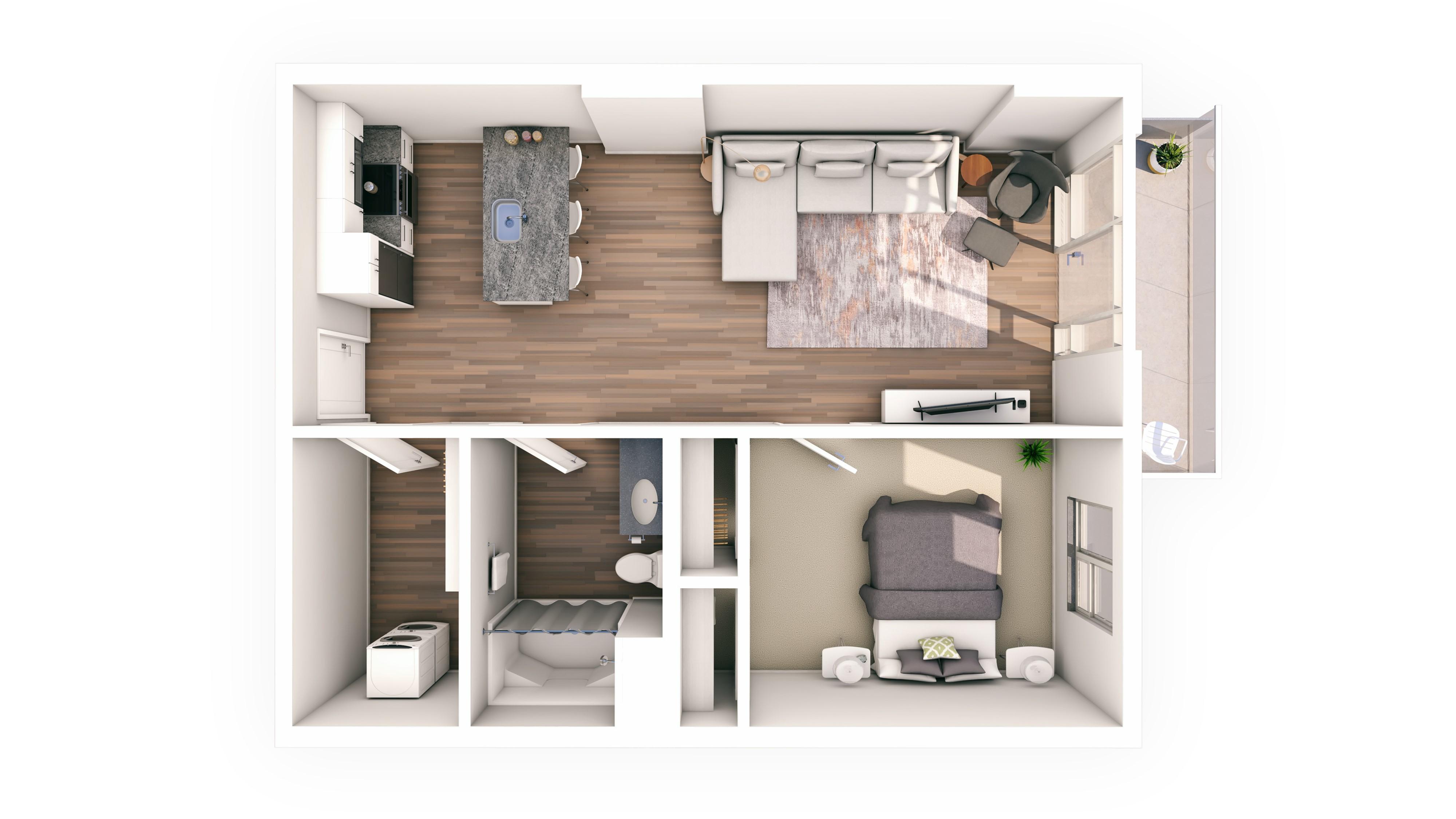 Urbanite 1BR 08 | Urbanite | Milwaukee Apartments