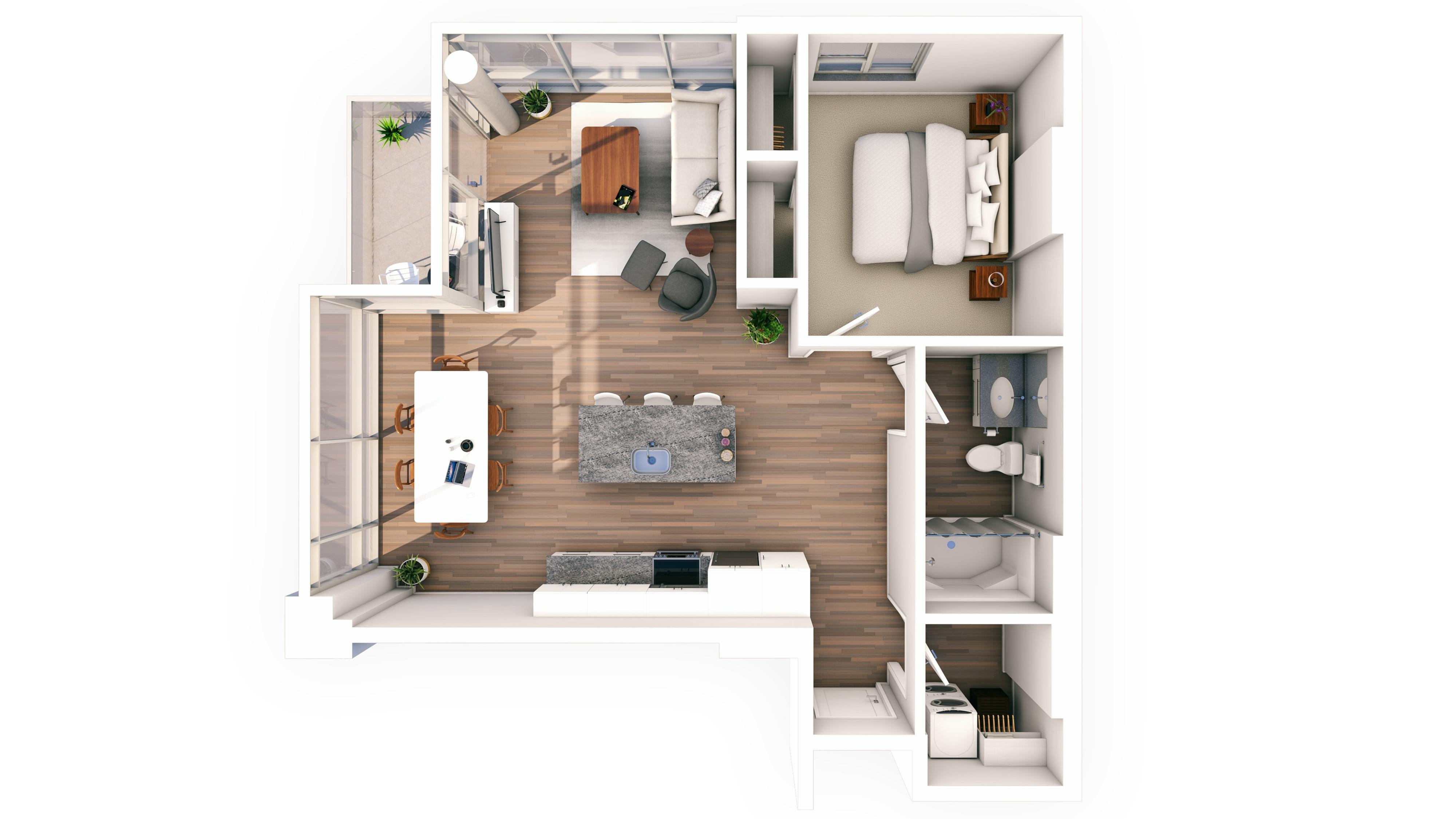 Urbanite 1BR 16 | Urbanite | Milwaukee Apartments