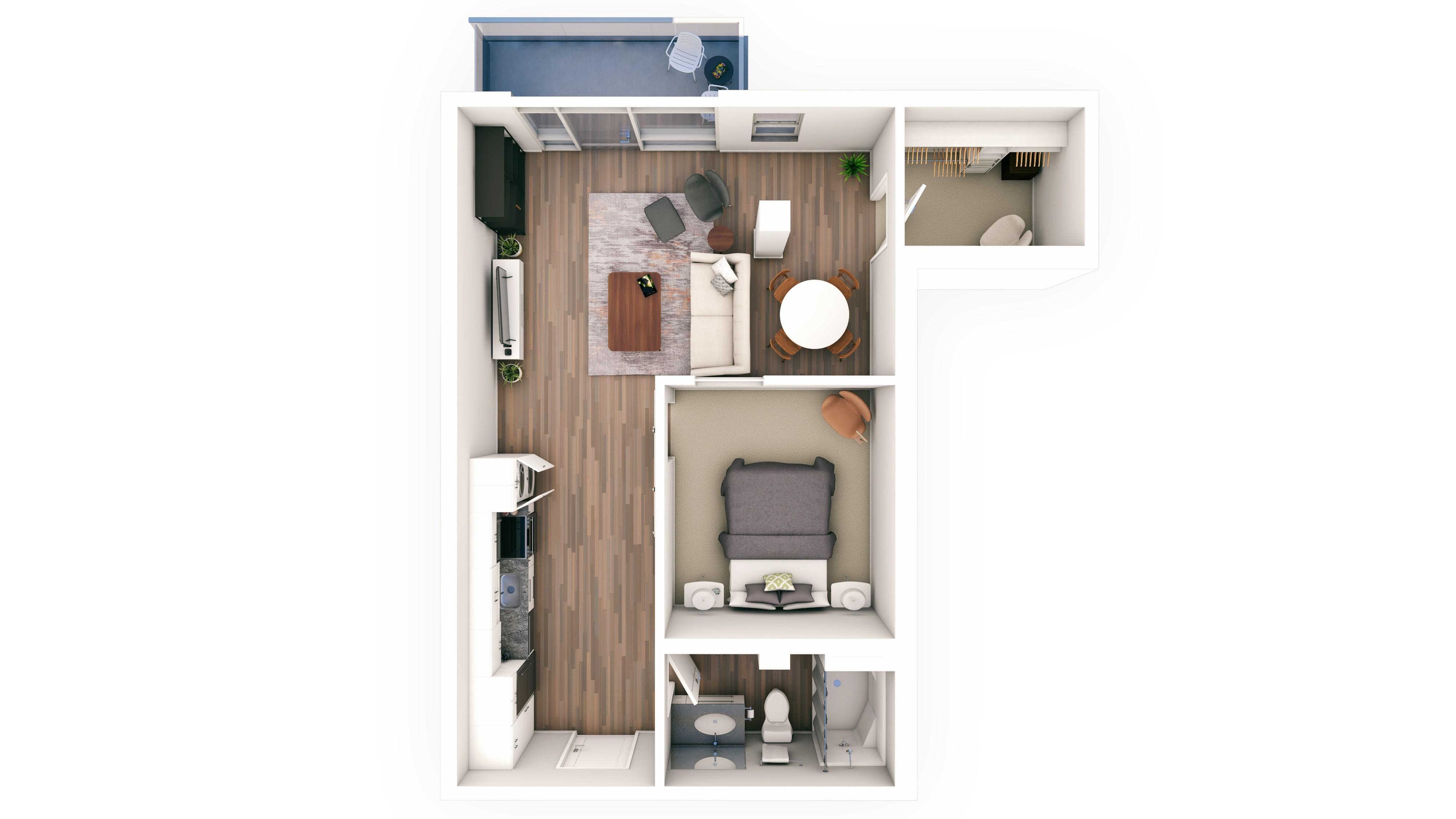 Urbanite 1BR 12 | Urbanite | Milwaukee Apartments