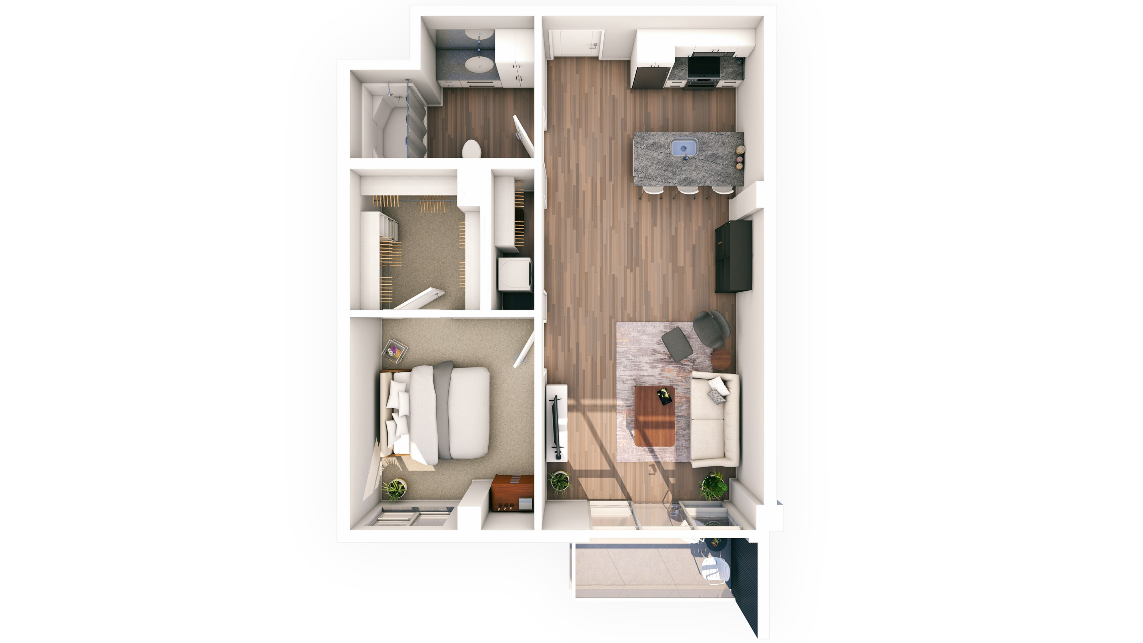 Urbanite 1BR 10 | Urbanite | Milwaukee Apartments