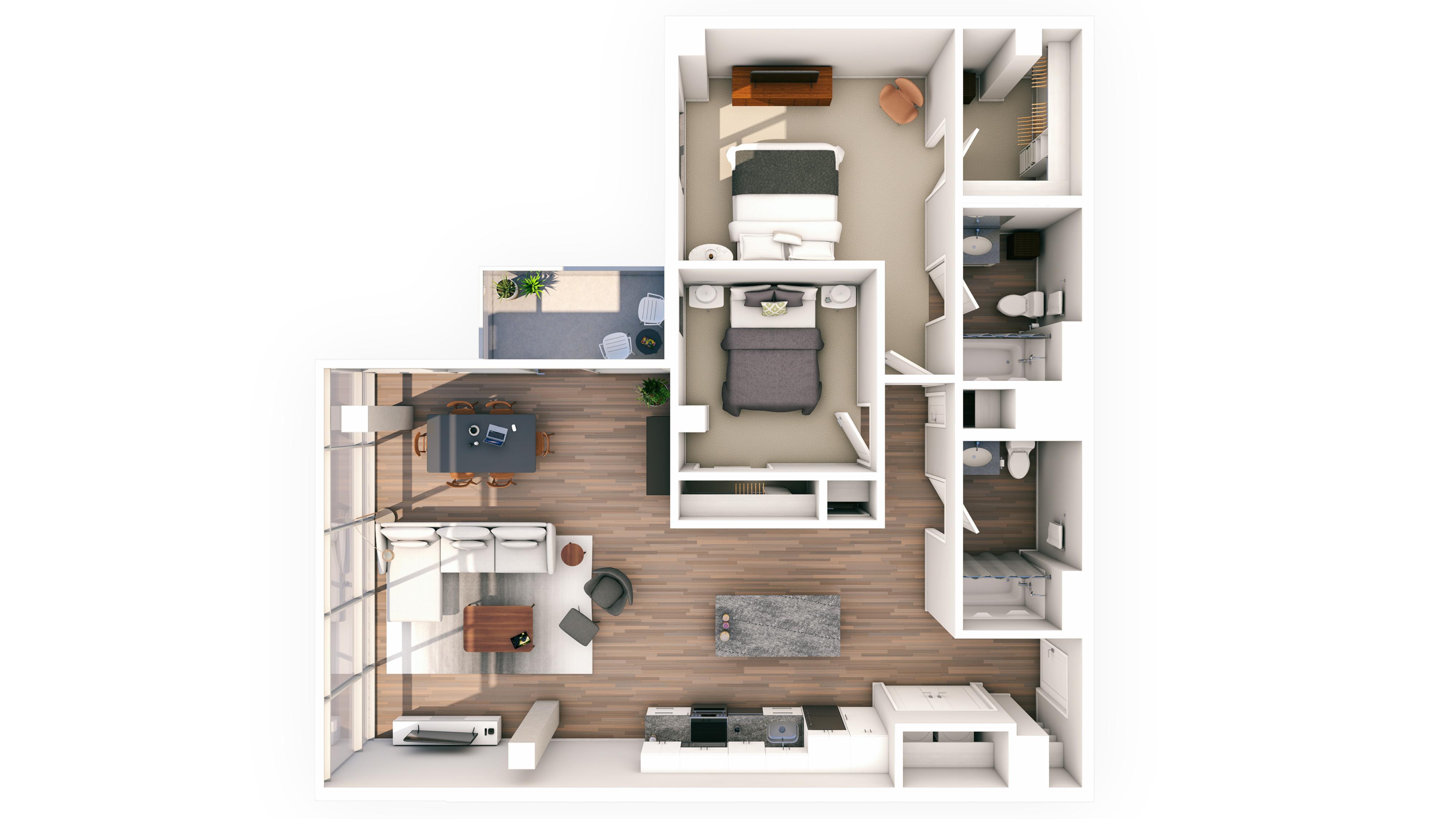 Urbanite 2BR 02 | Urbanite | Milwaukee Apartments