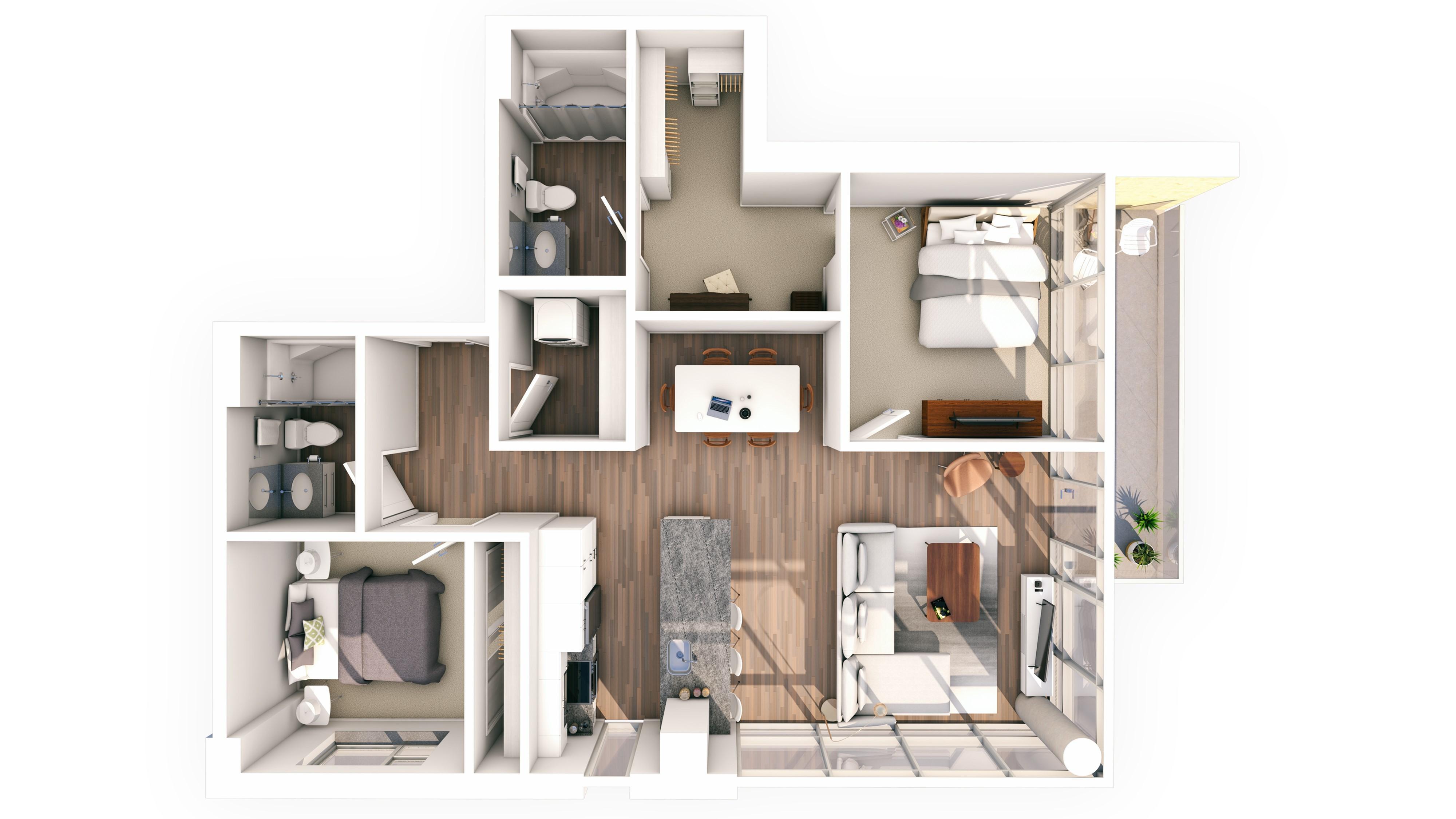Urbanite 2BR 17 | Urbanite | Milwaukee Apartments