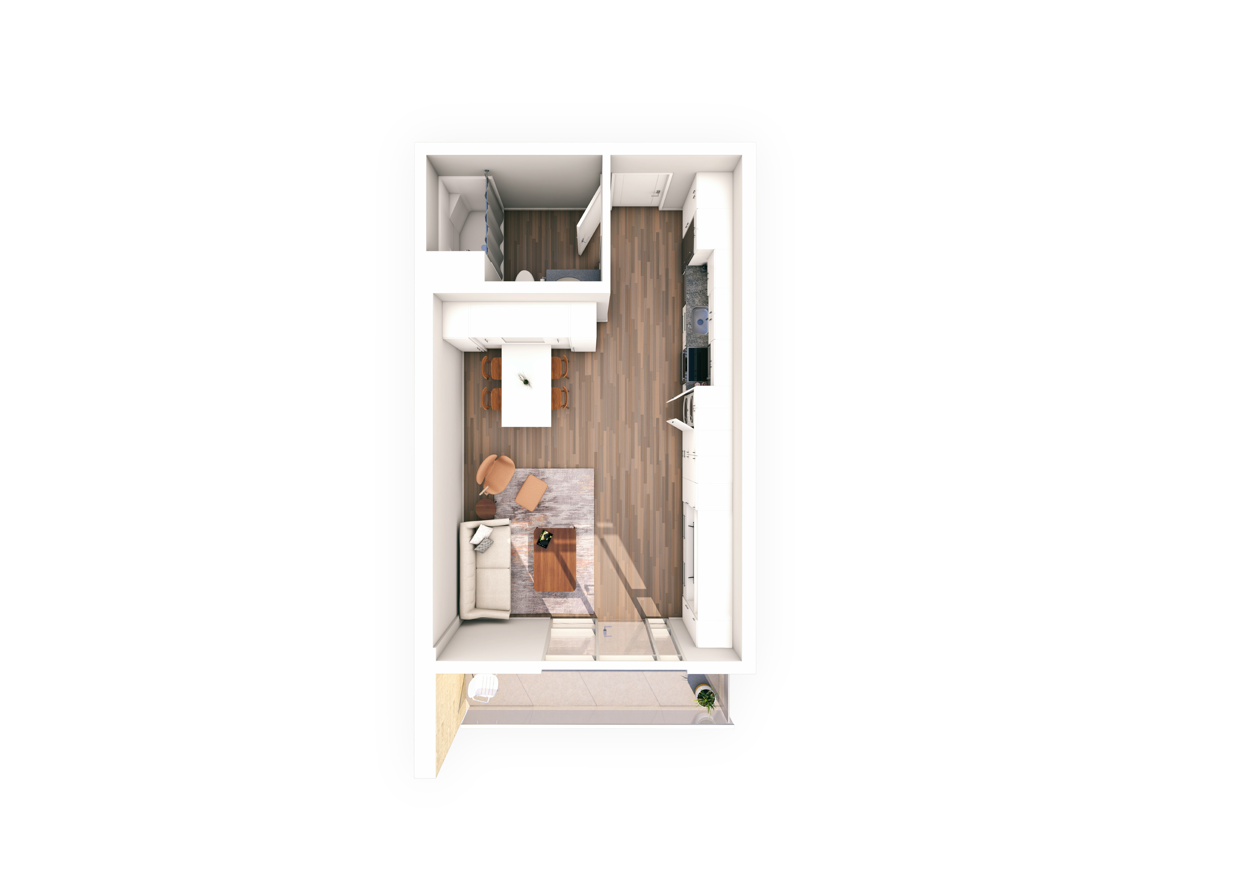 Urbanite Studio 13 | Urbanite | Milwaukee Apartments