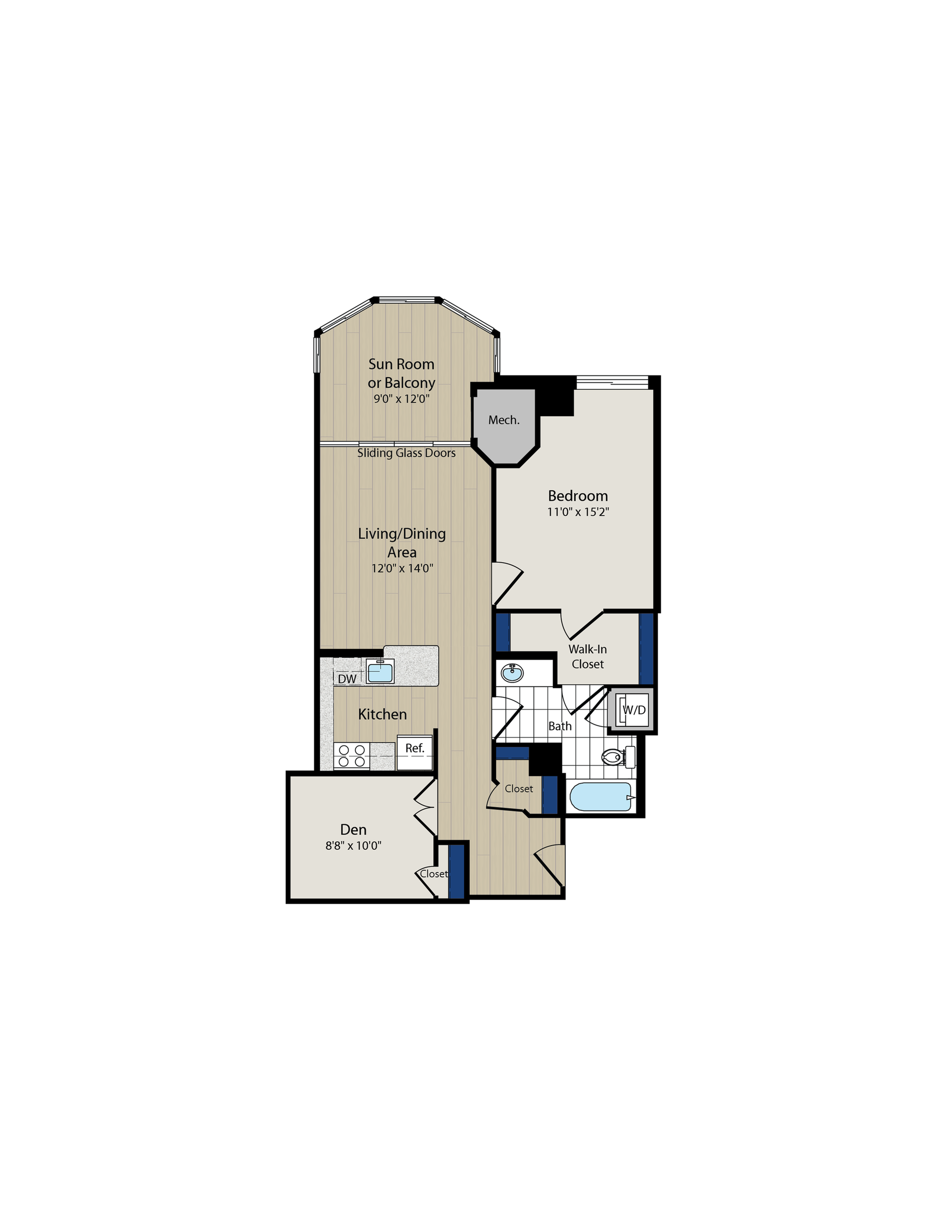 Floor Plan 6 | Luxury Apartments In Arlington VA | Meridian at Ballston Commons
