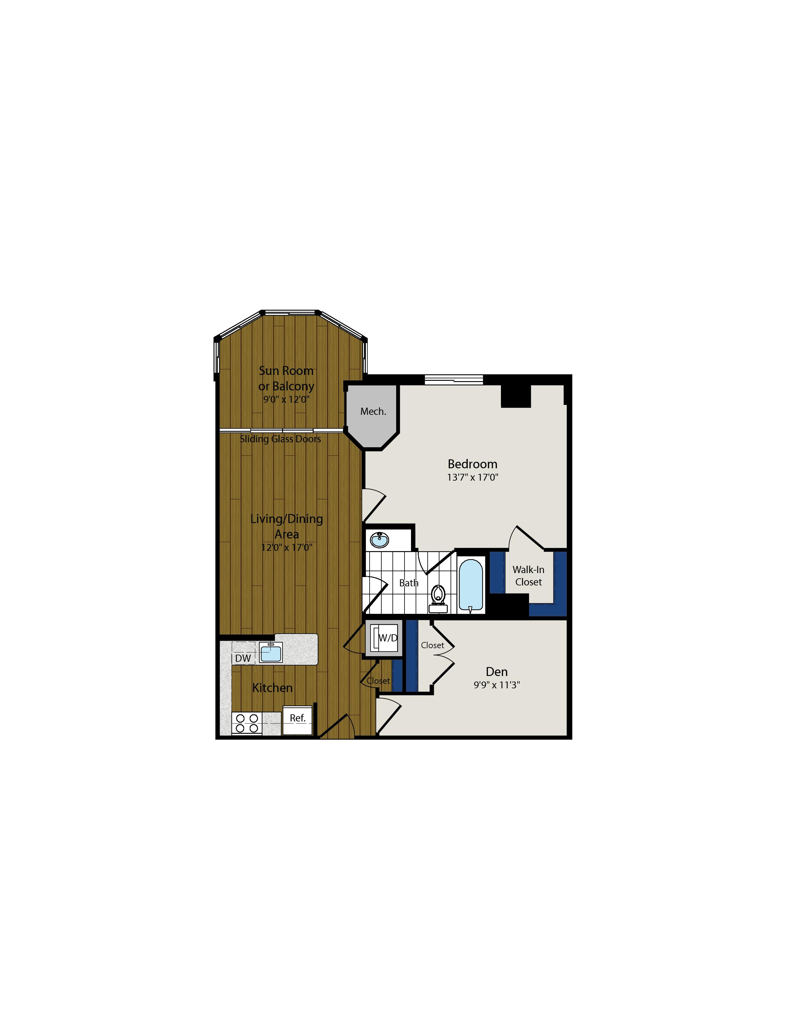 Floor Plan 10 | Luxury Apartments In Arlington VA | Meridian at Ballston Commons