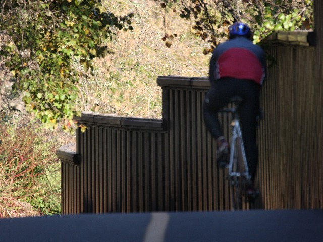 Resident on Bike Trail