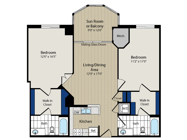 Floor Plan 5 | Luxury Apartments In Arlington VA | Meridian at Ballston Commons
