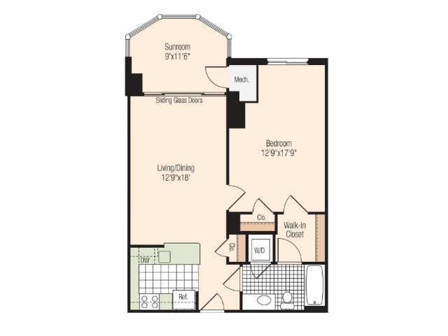 Floor Plan 10 | Meridian at Braddock Station