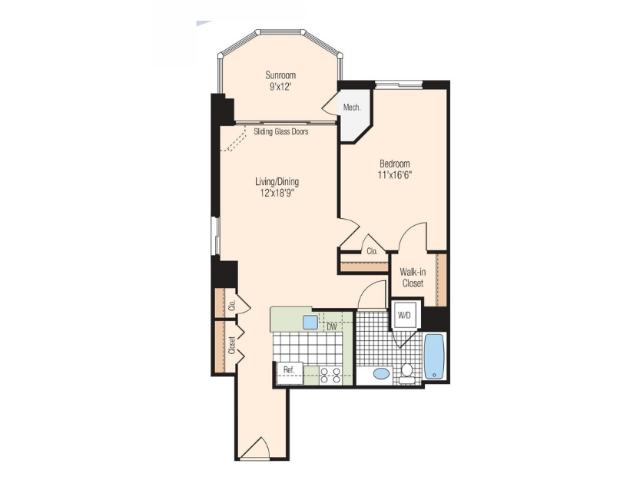 Floor Plan 11 | Meridian at Braddock Station