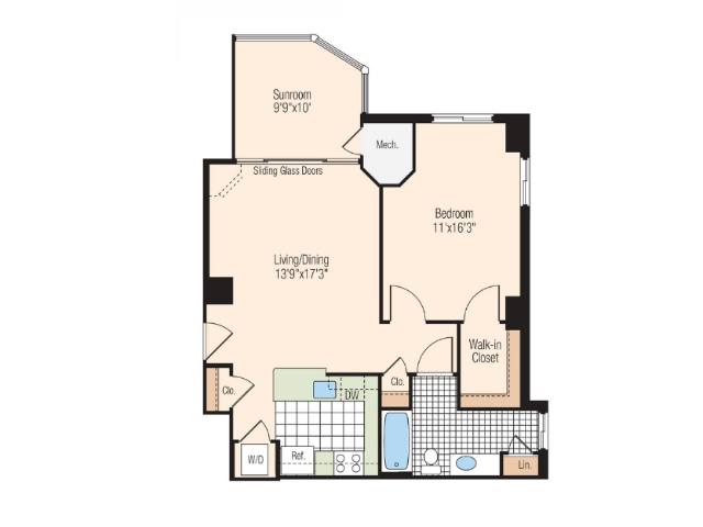 Floor Plan 12 | Meridian at Braddock Station
