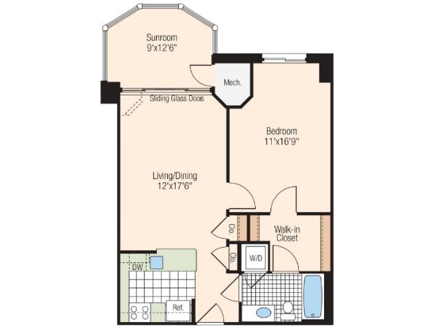 Floor Plan 14 | Meridian at Braddock Station